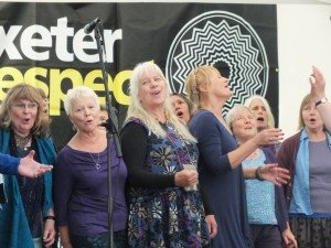 The joy of singing: Ploughcappella and Crediton World Music Choir at Respect Festival 2015